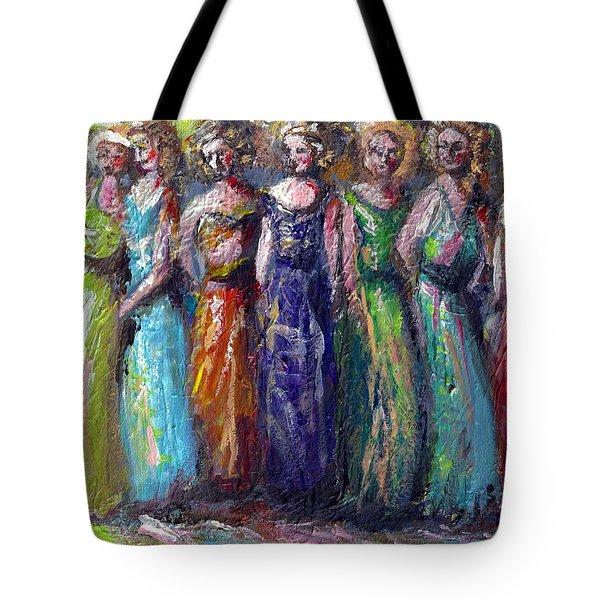 Girls Night Out Tote Bag by Bernadette Krupa