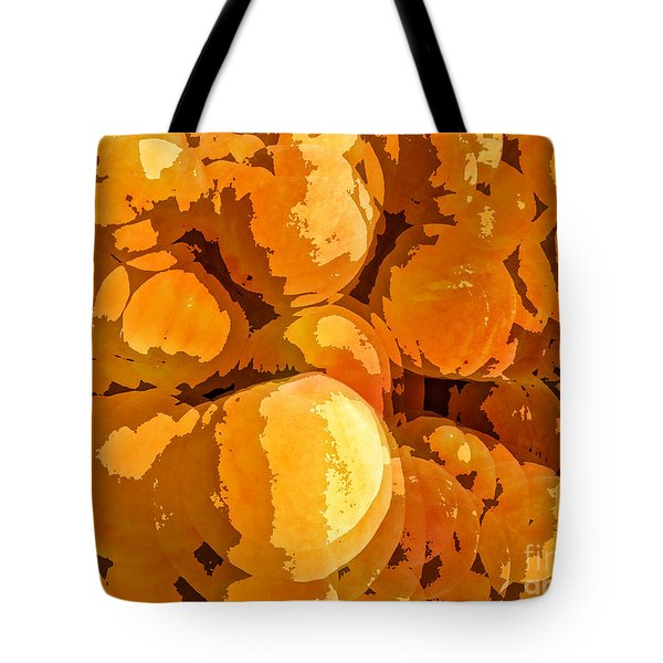 Give Peach A Chance Tote Bag by Jim Moore