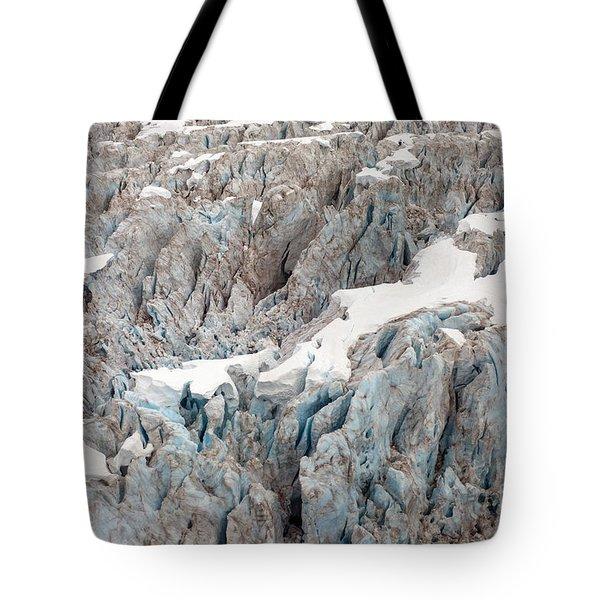 Glacial Crevasses Tote Bag by Mike Reid