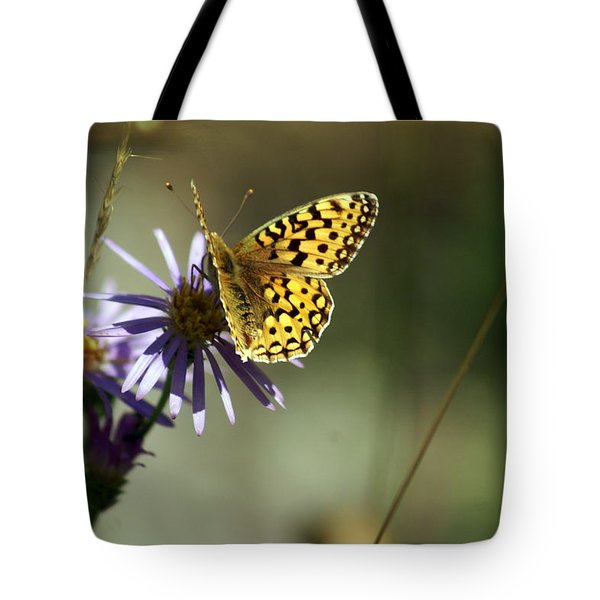 Glacier Butterfly Tote Bag by Marty Koch