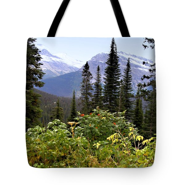 Glacier Scenery Tote Bag by Susan Kinney
