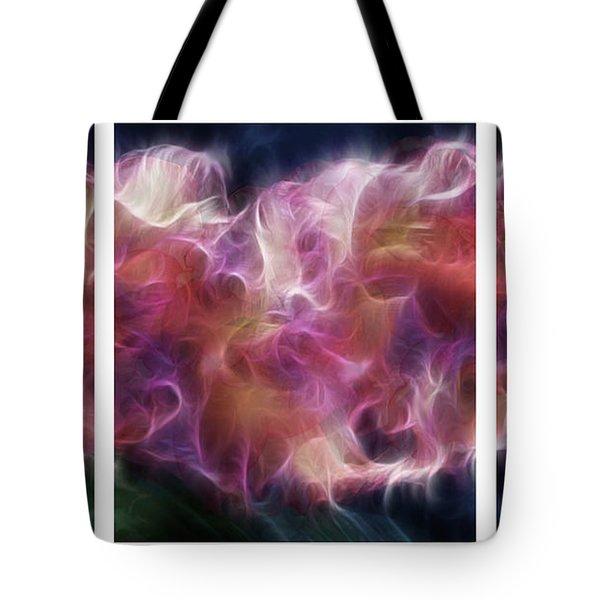 Gladiola Nebula Triptych Tote Bag by Peter Piatt