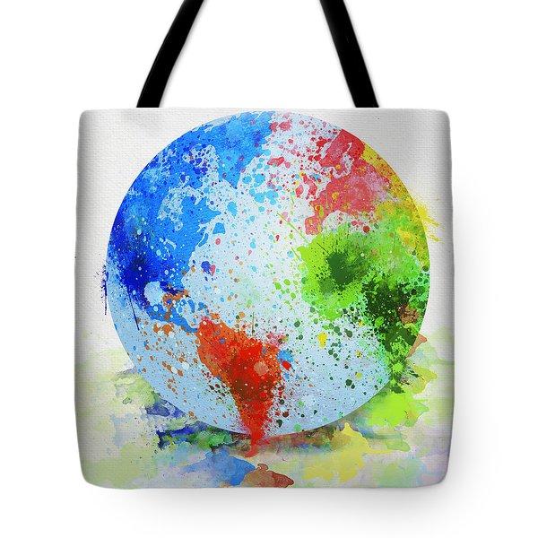 globe painting Tote Bag by Setsiri Silapasuwanchai