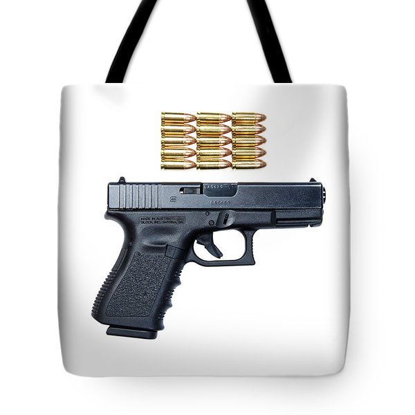 Glock Model 19 Handgun With 9mm Tote Bag by Terry Moore