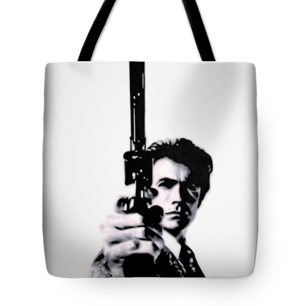 Go Ahead Punk Make My Day Tote Bag by Luis Ludzska