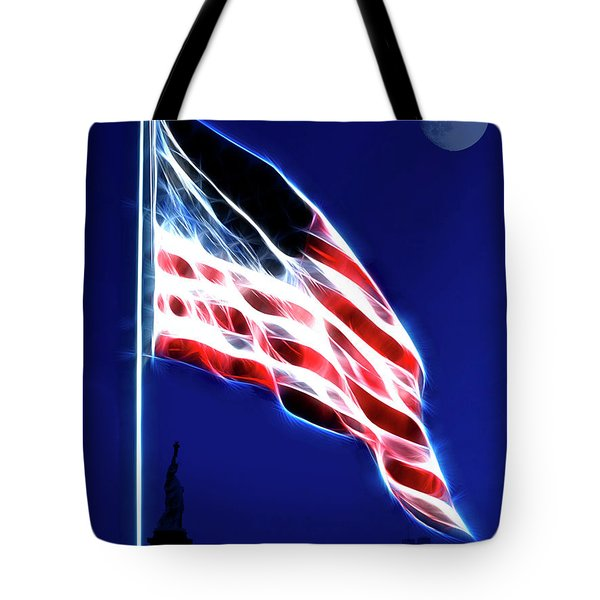 God Bless America Tote Bag by Wingsdomain Art and Photography