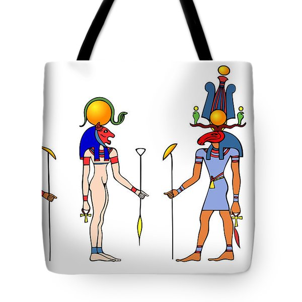 Gods And Goddess Of Ancient Egypt Tote Bag by Michal Boubin