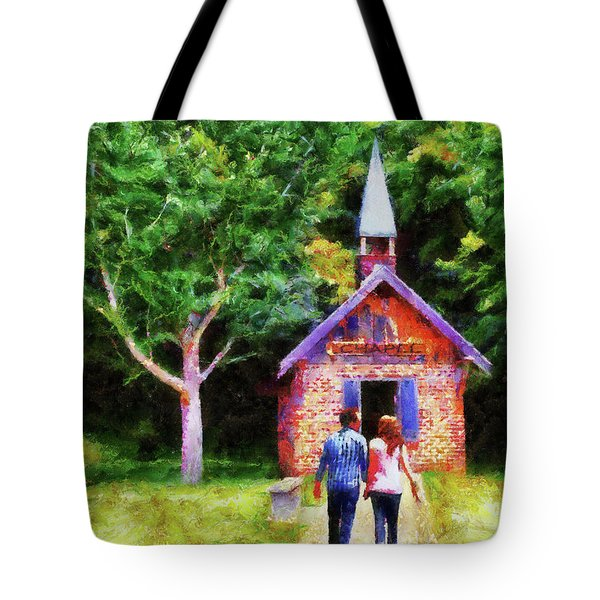Going To The Chapel Tote Bag by Jai Johnson