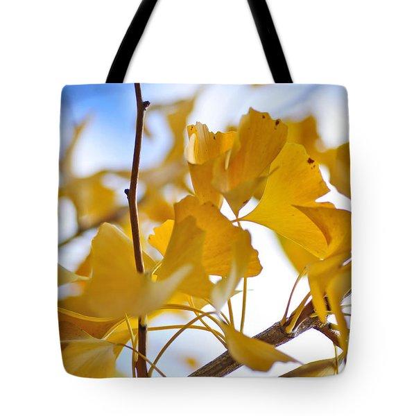 Golden Autumn Tote Bag by Kaye Menner