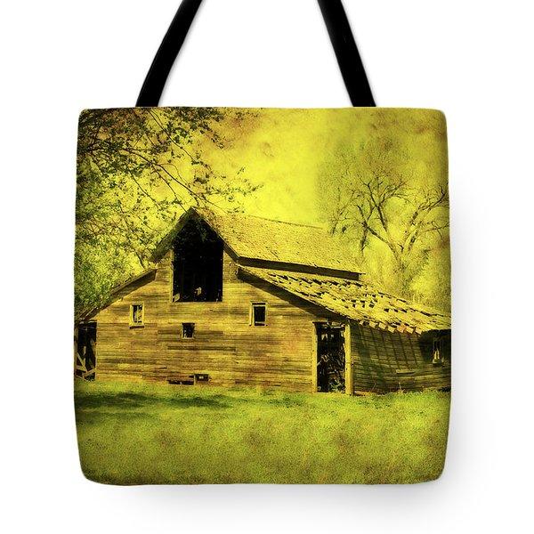 Golden Barn Tote Bag by Julie Hamilton