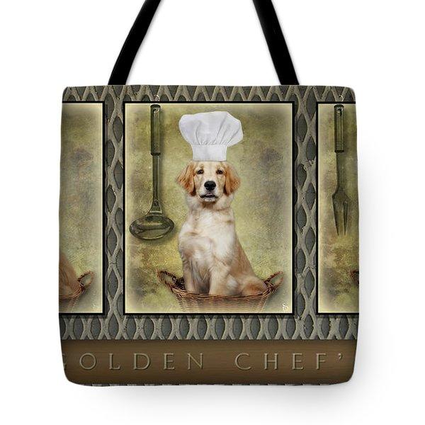 Golden Chef's Tote Bag by Susan Candelario
