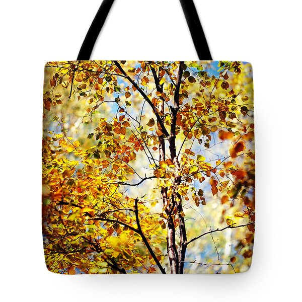 Golden Dress Haute Couture. Inspired By Autumn Tote Bag by Jenny Rainbow