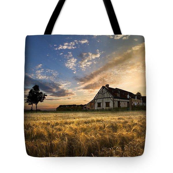 Golden Evening Tote Bag by Debra and Dave Vanderlaan