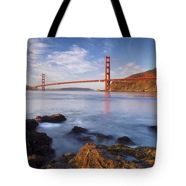 Golden Gate At Dawn Tote Bag by Brian Jannsen