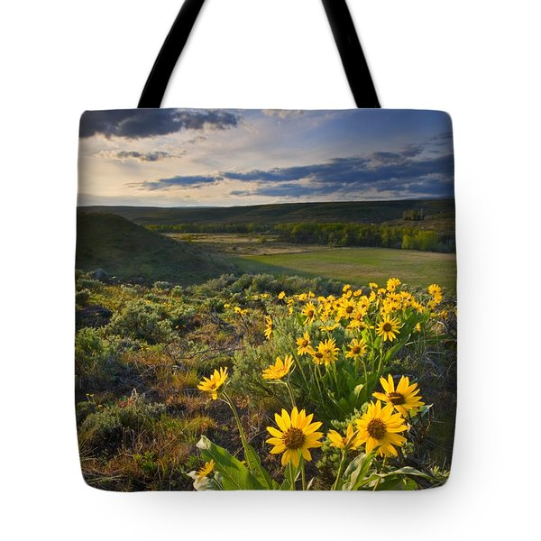 Golden Hills Tote Bag by Mike  Dawson
