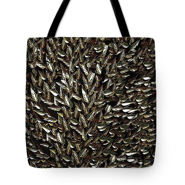 Golden Leaf Tote Bag by David Dehner