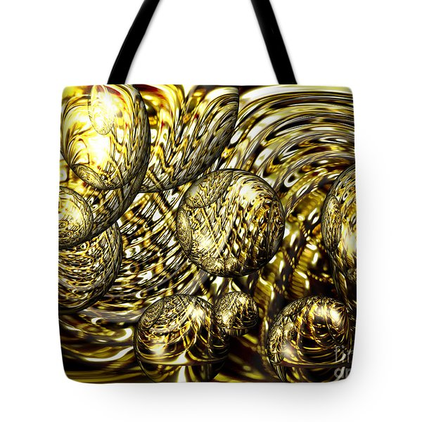 Golden Orbs Tote Bag by Cheryl Young