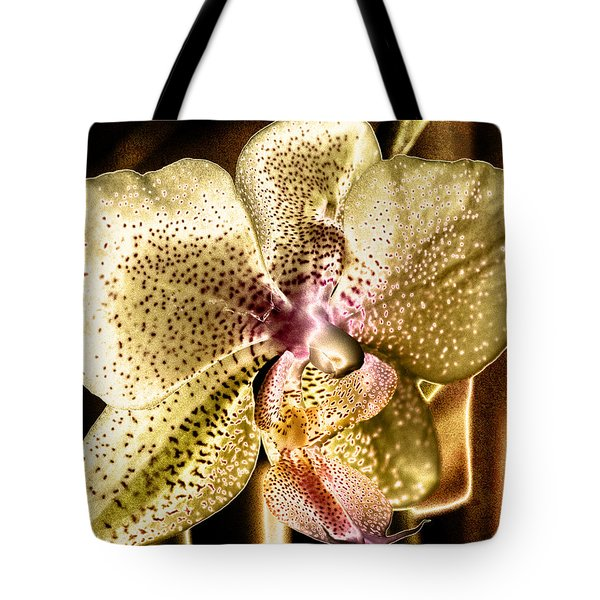 Golden Orchid Tote Bag by Barbara Middleton