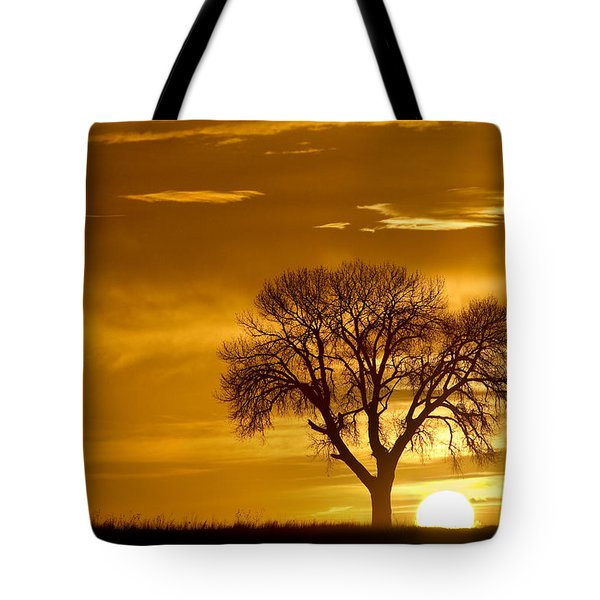 Golden Sunrise Silhouette Tote Bag by James BO  Insogna