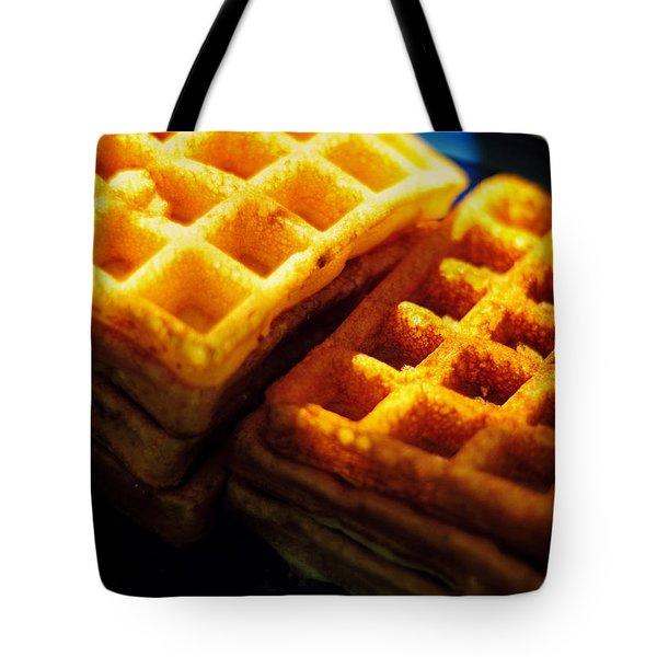 Golden Waffles Tote Bag by Rebecca Sherman