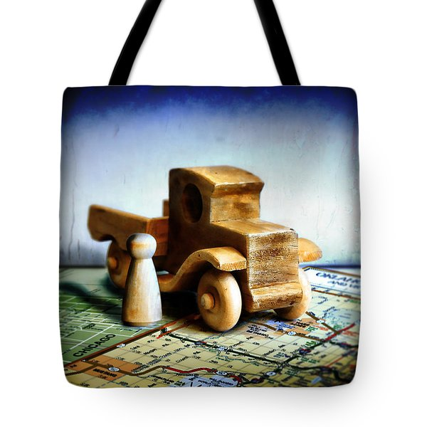 Gone Truckin Tote Bag by ADAM VANCE