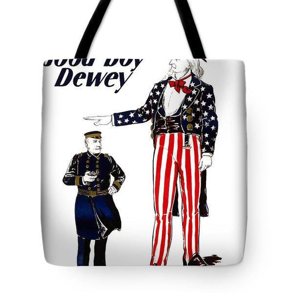 Good Boy Dewey Tote Bag by War Is Hell Store