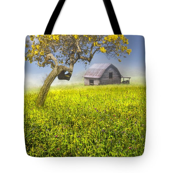 Good Morning Spring Tote Bag by Debra and Dave Vanderlaan
