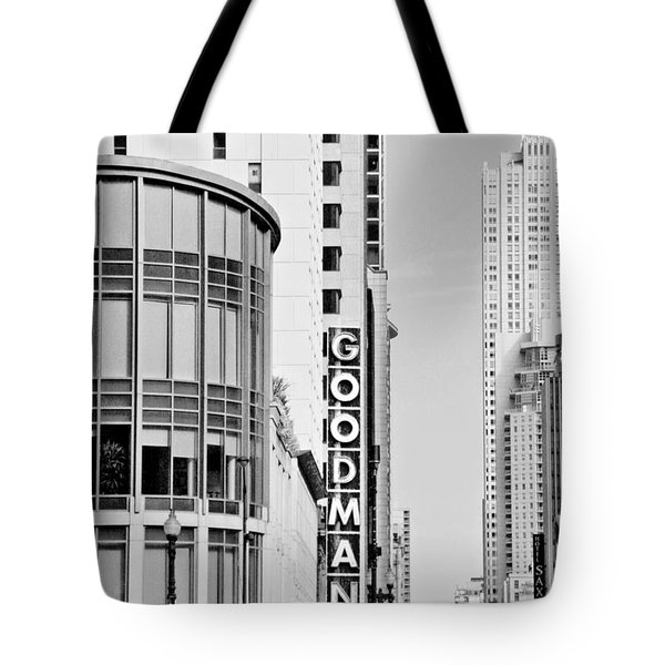 Goodman Theatre Center Chicago Tote Bag by Christine Till