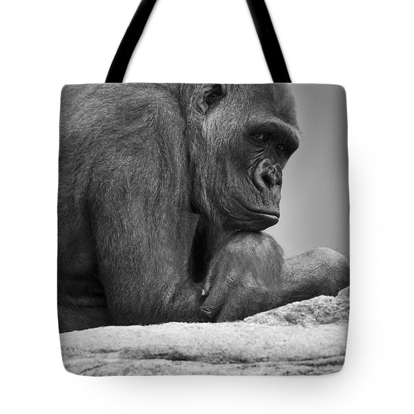 Gorilla Portrait Tote Bag by Darren Greenwood