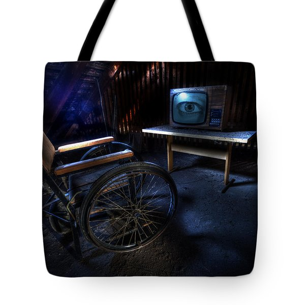 Got My Eye On You. Tote Bag by Nathan Wright
