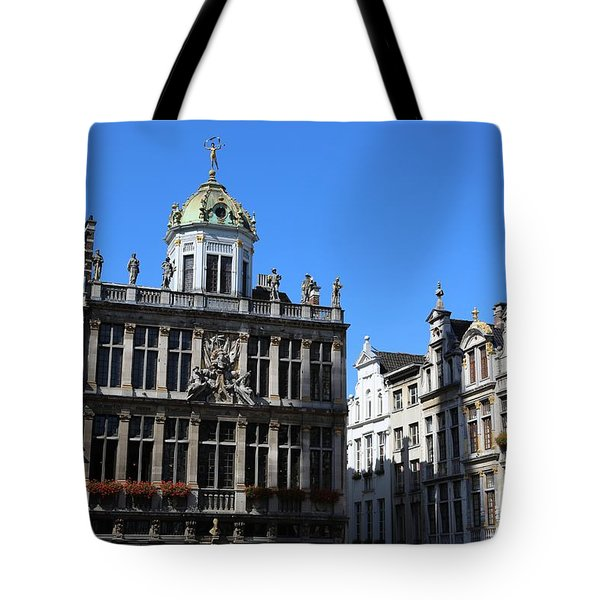 Grand Place Buildings Tote Bag by Carol Groenen