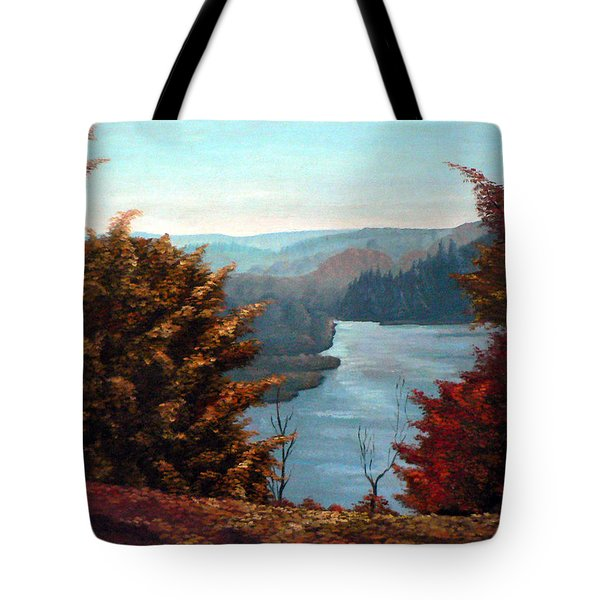 Grand River Look-out Tote Bag by Hanne Lore Koehler