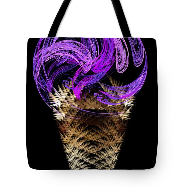 Grape Ice Cream Cone Tote Bag by Andee Design