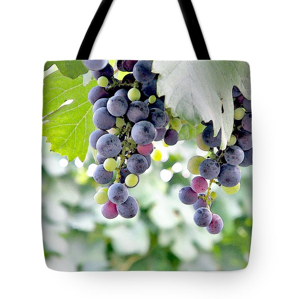 Grapes On The Vine Tote Bag by Glennis Siverson