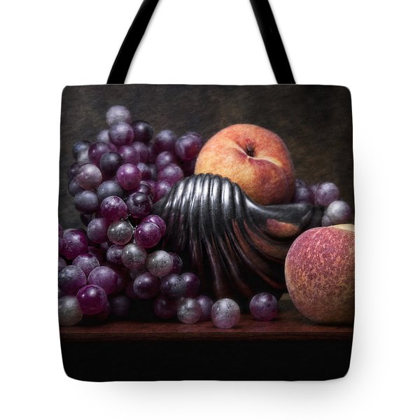 Grapes With Peaches Tote Bag by Tom Mc Nemar