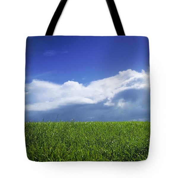 Grass In A Field, Ireland Tote Bag by The Irish Image Collection