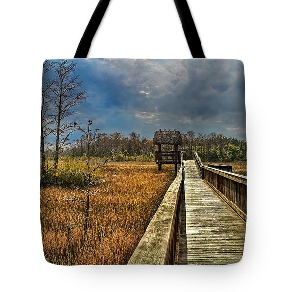 Grassy Glades Tote Bag by Debra and Dave Vanderlaan