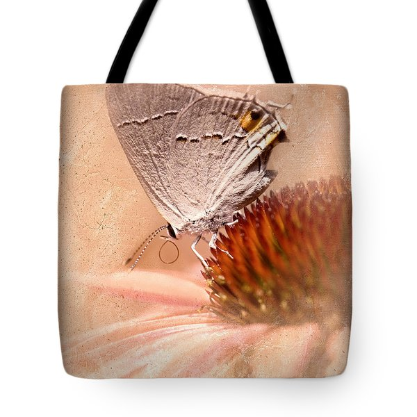 Gray Hairstreak Butterfly Tote Bag by Betty LaRue