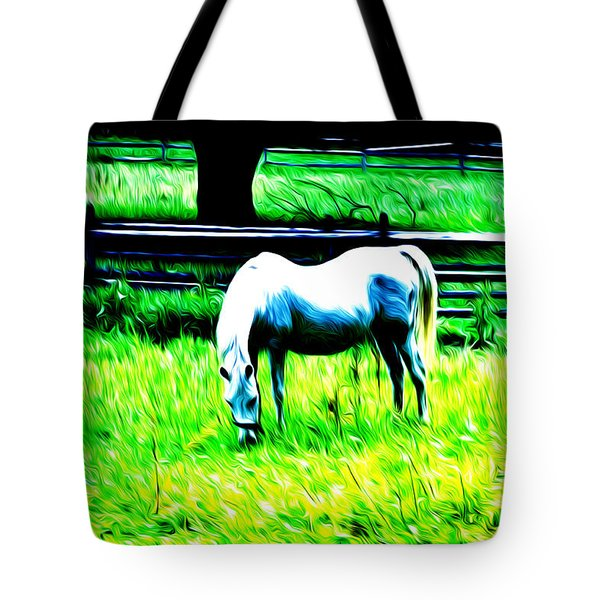 Grazing Horse Tote Bag by Bill Cannon