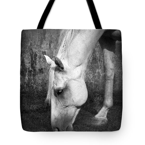 Grazing In Black And White Tote Bag by Betty LaRue