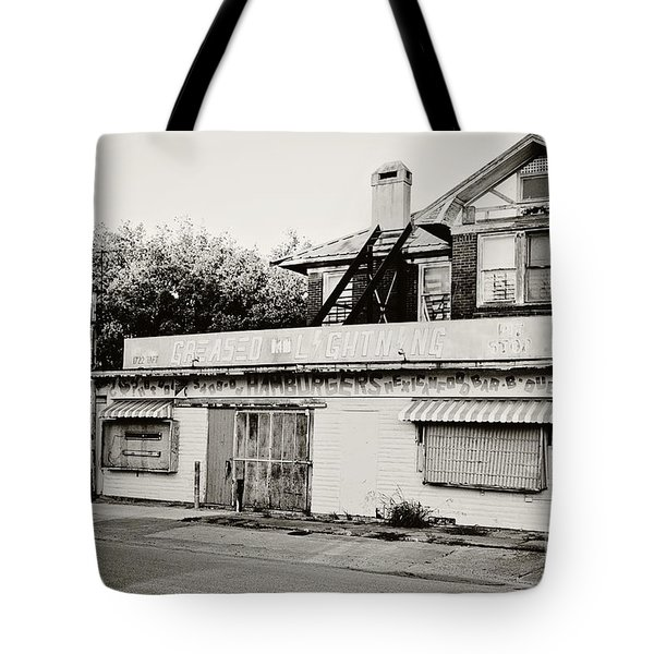 Greased Lightning Tote Bag by Scott Pellegrin