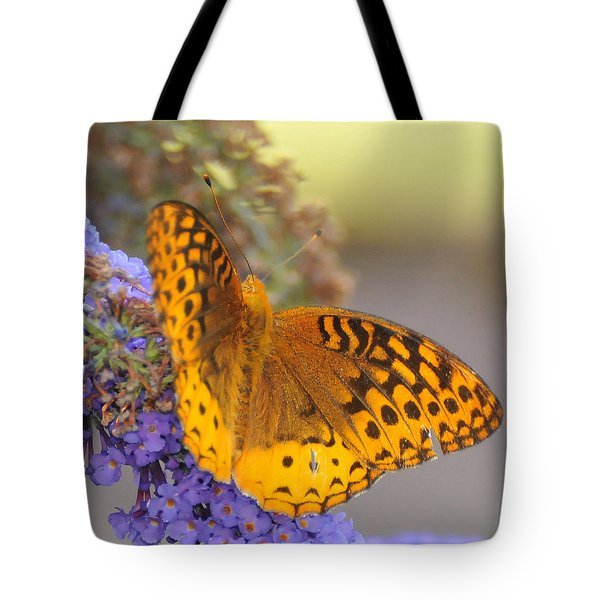Great Spangled Fritillary Butterfly Tote Bag by Paul Ward