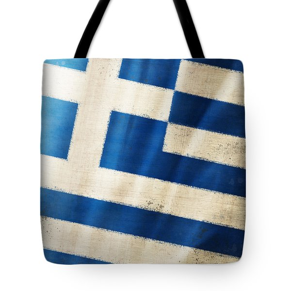 Greece flag Tote Bag by Setsiri Silapasuwanchai