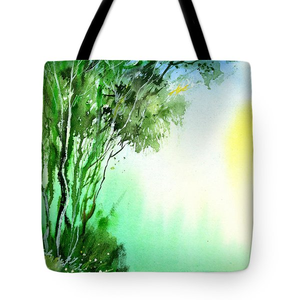 Green 1 Tote Bag by Anil Nene