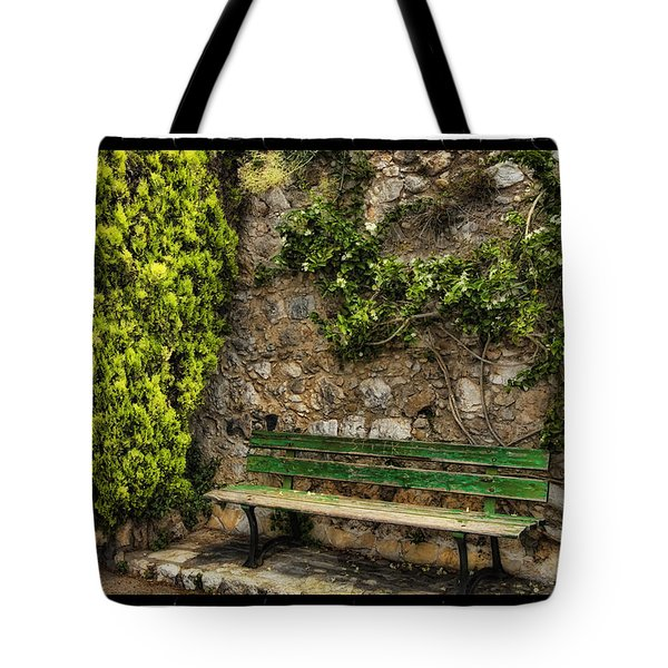Green Bench Tote Bag by Mauro Celotti