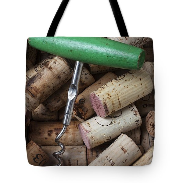 Green Corkscrew Tote Bag by Garry Gay