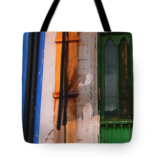 Green Door Tote Bag by Skip Hunt