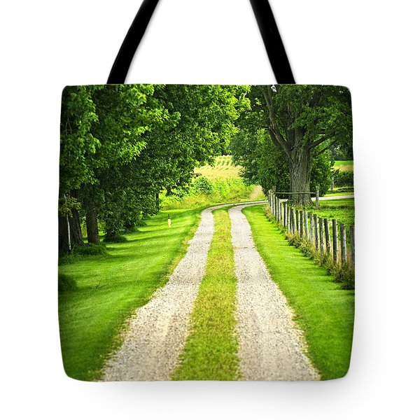 Green Farm Road Tote Bag by Elena Elisseeva