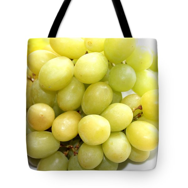 Green Grapes and Mum Tote Bag by Barbara Griffin