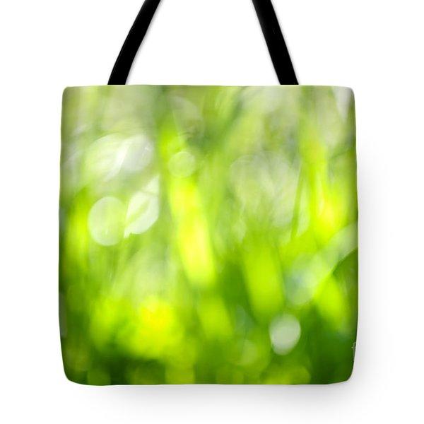 Green Grass In Sunshine Tote Bag by Elena Elisseeva